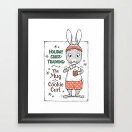 Holiday Curls Framed Art Print