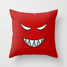 Evil Grin Evil Eyes Throw Pillow