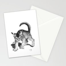 Furious kitten SKnb88 Stationery Cards