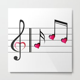Music love concept Metal Print