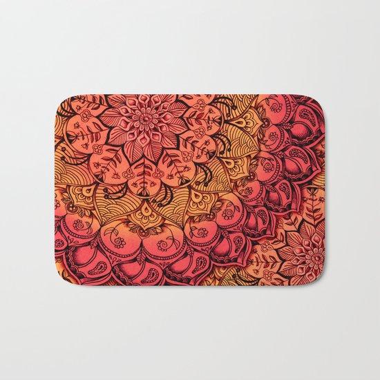 Ruby & Garnet Doodle Bath Mat