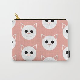 Pink Cats Pattern Carry-All Pouch