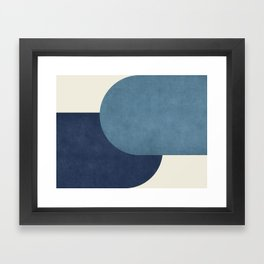 Halfmoon Colorblock - Blue Framed Art Print