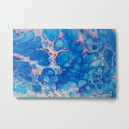 Blue,pink,white Metal Print