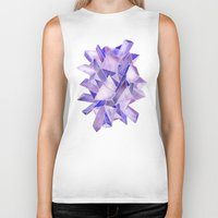 geode Biker Tanks featuring Amethyst Watercolor by Cat Coquillette