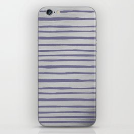 Violet gray silver watercolor brushstrokes stripes iPhone Skin