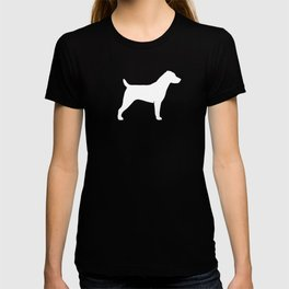 White Jack Russell Terrier Silhouette T-shirt
