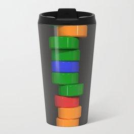 Colorful cylinders Travel Mug