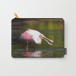 Feeding Roseate Spoonbill Carry-All Pouch