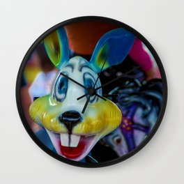 The colourful rabbit Wall Clock