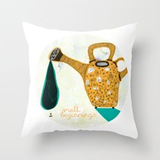 Don't forget the small beginnings Throw Pillow