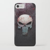 punisher iPhone & iPod Cases featuring Punisher Skull  by Electra