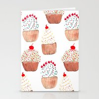 cupcakes Stationery Cards featuring Cupcakes by Bouffants and Broken Hearts