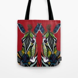 zebra love red Tote Bag