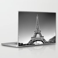 eiffel Laptop & iPad Skins featuring eiffel by Michelle Loidl