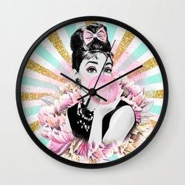 Audrey Hepburn Pop Art Wall Clock