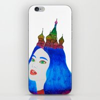 russia iPhone & iPod Skins featuring Russia by Luna Portnoi