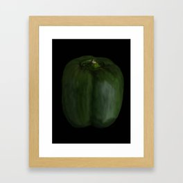 green capsicum - 124 Framed Art Print