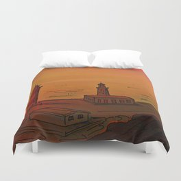 Good Morning / New and Old Lighthouse Fuencaliente La Palma Duvet Cover