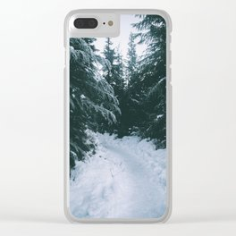 Winter Trails Clear iPhone Case
