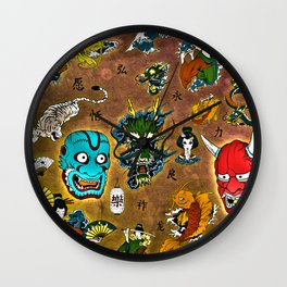 Japanese Collage Wall Clock