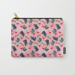 Tropical, Flamingo, Pineapple, Summer Fling Carry-All Pouch