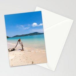 White sand tropical beach at Cape Panwa, Phuket, Thailand Stationery Cards