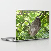 sloths Laptop & iPad Skins featuring Sloths in Nature by Amber Galore Design