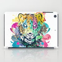 psychadelic iPad Cases featuring Tiger Splash by Geo Law