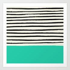 Mint x Stripes Art Print