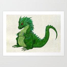 Fat Dragon Art Print