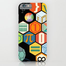 Math in color Black B iPhone Case
