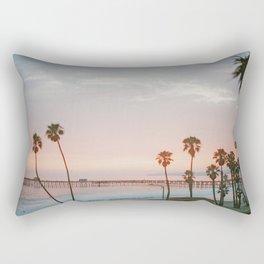 palm trees sunset vi / san clemente, california Rectangular Pillow