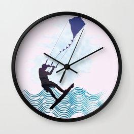 [mis]interpreting kiteboarding Wall Clock