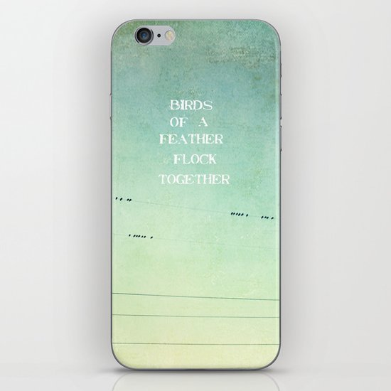 birds of a feather flock together iPhone & iPod Skin