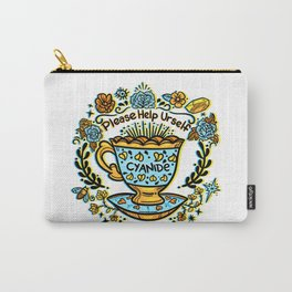 Poison of Choice: Cyanide TeaCup Carry-All Pouch