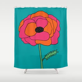 Colorful Floral Garden Print by Emma Freeman Designs Shower Curtain