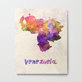 Venezuela in watercolor Metal Print