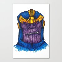 thanos Canvas Prints featuring Thanos by AgrovatedArt