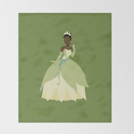 Tiana from Princess and the Frog Throw Blanket