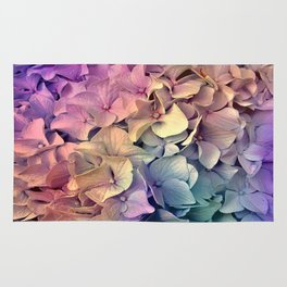 Soft Multi Color Hydrangea Rug