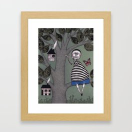 A Day for Sitting in a Tree Framed Art Print