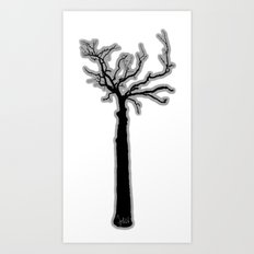 Black & White Tree's Art Print