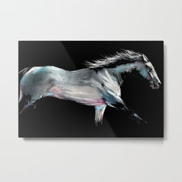 ' RACE ON ' Horse Racing Print by Shirley MacArthur Metal Print