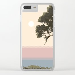 Backyard Serenity Clear iPhone Case