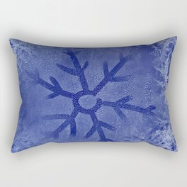 The Icy Snowflake Rectangular Pillow