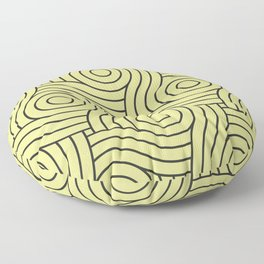Circle Swirl Pattern Green Inspired By Lime Green - Lime Mousse - Bright Cactus Green - Celery Floor Pillow