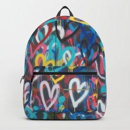 Love Wall Graffiti Street Art Backpack