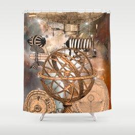 Steampunk Airship Shower Curtain
