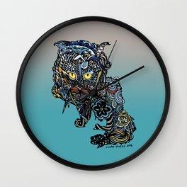 Dragon Cat (Color) Wall Clock